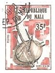 Stamps : Africa : Mali :  instrumentos musicales afr