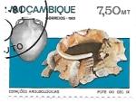 Sellos de Africa - Mozambique -  arqueología