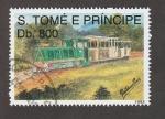 Sellos de Africa - Santo Tomé y Principe -  Trenes