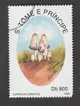 Stamps : Africa : São_Tomé_and_Príncipe :  Coprinus  comatus