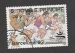 Stamps : Africa : São_Tomé_and_Príncipe :  Olimpiadas Barcelona 92