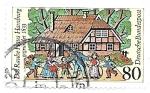 Sellos de Europa - Alemania -  arquitectura tradicional