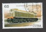 Stamps : America : Cuba :  160 Aniv. ferrocarriles en Cuba