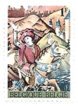 Sellos de Europa - Bélgica -  Caballero medieval