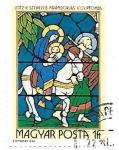 Stamps : Europe : Hungary :  Vidrieras