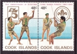 Stamps Oceania - Cook Islands -  75 aniversario