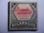 Stamps : America : Nicaragua :  Hangares F.A.N.- Homenaje a la Fuerza Aérea Nacional