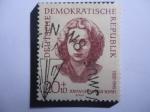 Stamps : Europe : Germany :  Johanna Jannetje Schaft (1920-1945) Alemania República Democrática (DDR)