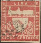 Sellos del Mundo : America : Perú : 1870 - Tren Lima - Callao - El primer tres de Sudamérica