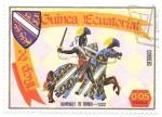 Sellos del Mundo : Africa : Guinea_Ecuatorial : caballería medieval