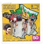 Sellos de Africa - Guinea Ecuatorial -  tour de Francia