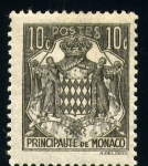 Stamps of the world : Monaco :  Escudo de Principado de Monaco