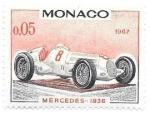 Sellos del Mundo : Europa : Mónaco : coches de carreras