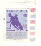 Sellos de America - Venezuela -  conferencia ministros trabajo RESERVADO