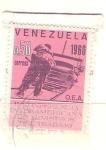 Stamps Venezuela -  conferencia ministros trabajo RESERVADO