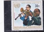 Stamps of the world : Rwanda :  Lucha contra el racismo