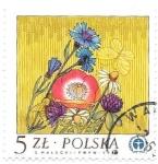 Sellos de Europa - Polonia -  flores