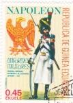 Stamps of the world : Equatorial Guinea :  NAPOLEON- regimiento de cazadores