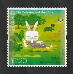 Sellos del Mundo : Asia : Hong_Kong : 1803 - Cuento, La liebre y la tortuga