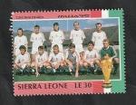 Sellos del Mundo : Africa : Sierra_Leona : 1157 - Mundial de fútbol Italia 90, Checoslovaquia