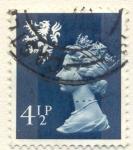 Stamps United Kingdom -  queen Elizabeth II