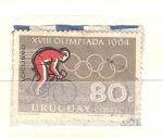 Sellos del Mundo : America : Uruguay : olimpiadas ciclismo