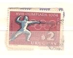 Sellos del Mundo : America : Uruguay : olimpiadas esgrima