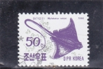 Stamps North Korea -  pez- Myliobatus tobijei