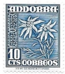 Stamps : Europe : Andorra :  flores
