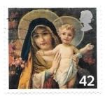 Stamps : Europe : United_Kingdom :  Virgen con niño