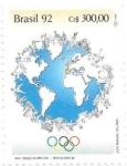 Sellos de America - Brasil -  Juegos olímpicos Barcelona 92