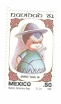 Stamps of the world : Mexico :  Navidad 1981