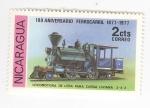 Stamps of the world : Nicaragua :  100 aniversario ferrocarril. Locomotora leña carga liviana