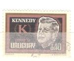 Sellos de America - Uruguay -  Kennedy RESERVADO