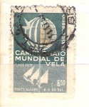 Sellos de America - Brasil -  campeonato mundial de vela