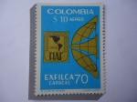 Stamps Colombia -  Emblema de Exfilca 70 - FIAF:Federación Interamericana de Filatelia 1968