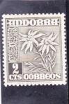 Sellos del Mundo : Europa : Andorra : flores- edelweiss