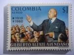 Stamps America - Colombia -  Gilberto Alzate Avendaño 1910-1960 - 10 Aniversario de su Muerte 1960-1970