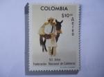 Stamps America - Colombia -  50 Años Federación Nacional de Cafeteros (1927-1977) - Cultivador y Mula de Carga