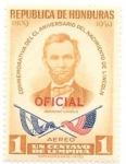 Stamps America - Honduras -  Lincoln