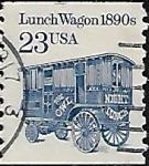 Sellos del Mundo : America : Estados_Unidos : Vagón comedor, 1890