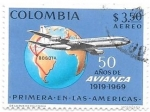 Stamps America - Colombia -  Avianca