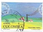 sello : America : Colombia : telefonia rural