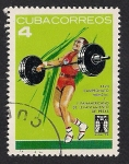 Stamps Cuba -  Levantamiento de pesas -4-
