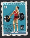 Stamps Cuba -  Levantamiento de pesas -3-