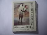 """Stamps : America : Argentina :  """"El Lama"""" del Pintor Juan Betlle Planas (1911-1960)-De la serie:Radiotelegrafiaras Paranoicas"""