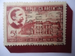 Stamps : America : Argentina :  Cincuentenario del Banco de la Nación de Argentina-Carlos Pellegrini (1846-1906)-Presidente en 1890/