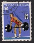 Stamps Cuba -  Levantamiento de pesas -2-