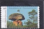 de Europa - Alemania -   Mesa del Diablo en Hinterweidenthal, Bosque del Palatinado