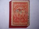 Stamps : America : Ecuador :  Timbre de un Centavo de Sucre -1a Clase - Sello de Renta-Ingresos.